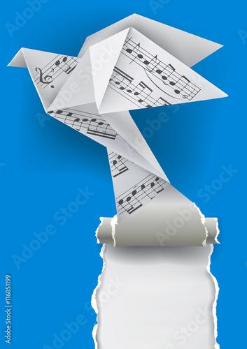 40 sheets ORIGAMI paper , genuine random music sheets 10x10cm VINTAGE | 500x353