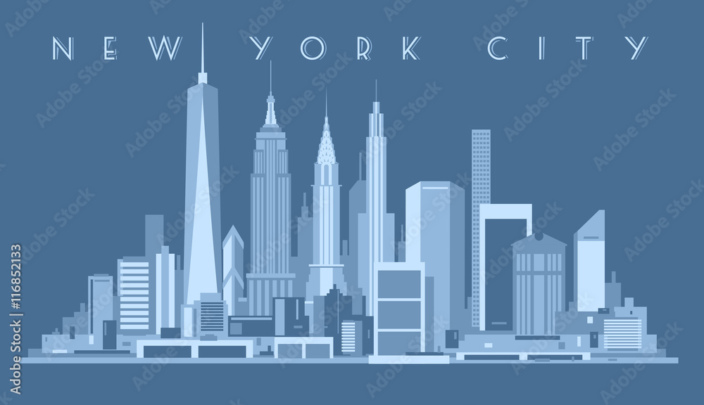 Fototapety, obrazy: New York City Skyline,