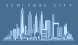 Fototapeta Nowy Jork - New York City Skyline,