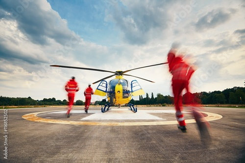 Poster Helicopter Air rescue service