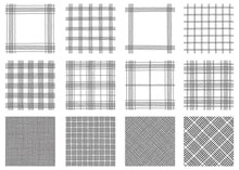 Set Of Tartan  Patterns. Vector Seamless  Backgrounds With Textured Tartan Plaid.
