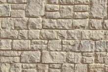 Urban Street Limestone Stone Wall Background Texture, Vintage Mo