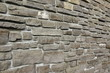 Modern Vintage Stone Wall From Stepped Granite Blocks Background