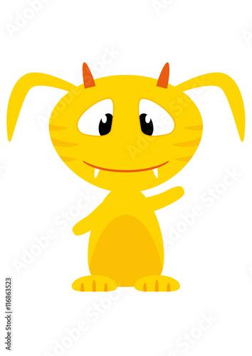 Cartoon Handy Monster gelb - 116863523