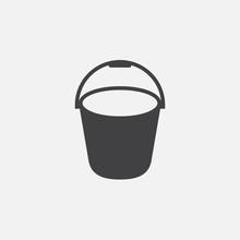 Bucket Icon Vector, Solid Logo...