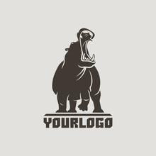 Hippo Logo Isolated