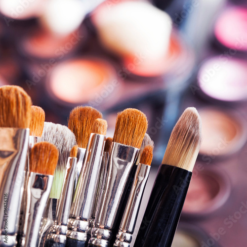 Valokuva  Set of professional make-up brushes and tools