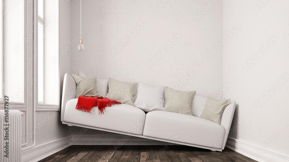Fototapety, obrazy: Kleines Wohnzimmer mit Platzproblem