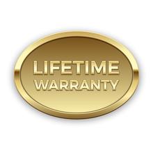 Lifetime Warranty Badge, Vector