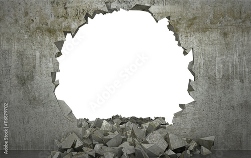 Papel de parede Shattered Wall , muro distrutto