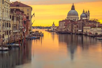 Venice church with sunrise