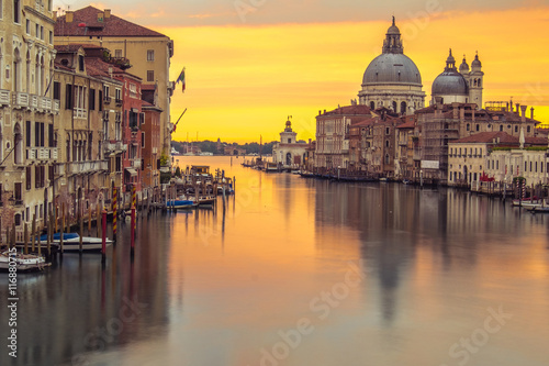 Stickers pour porte Venise Venice church with sunrise