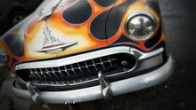 Classic Car With Flames