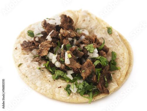 Fotografie, Obraz  Isolated mexican taco