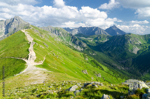 Trail in the Tatras Mountains