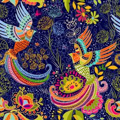 Naklejka Colorful decorative pattern. Ethnic background