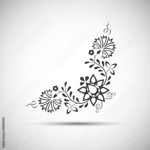 Fotografija  Traditional folk ornament, vector illustration of simple folk symbol