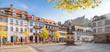 Leinwanddruck Bild Heidelberg Kornmarkt Panorama im Herbst