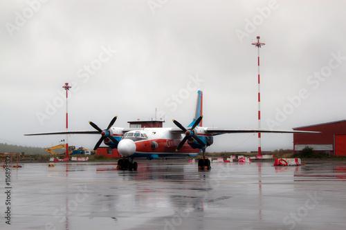 Valokuva  Turboprop airplane