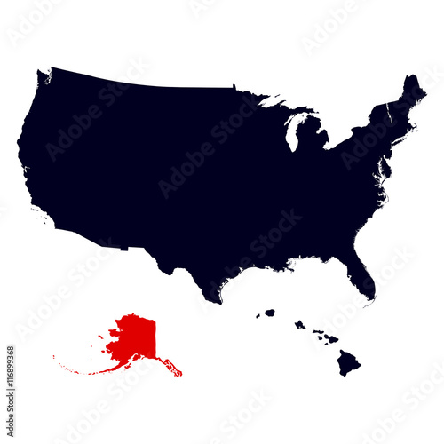 Alaska State In The United States Map Buy This Stock Vector And