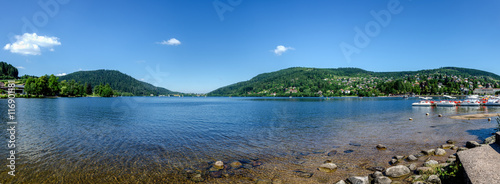 Photo Panoramic view of Gerardmer lake in Vosges, Lorraine