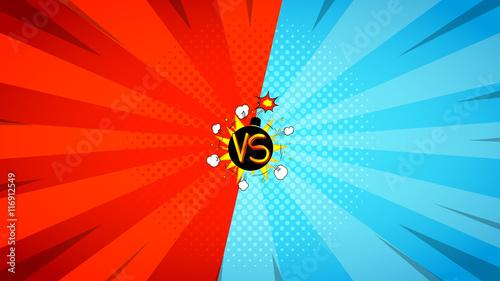Fotografie, Obraz  Versus letters fight illustration