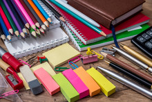 Different School Supplies On A...