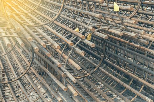 Fotografie, Obraz  Reinforcement rebar cages 2
