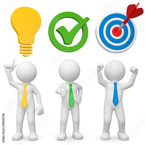 3d Männchen mit Ideen, haben Erfolg und Zustimmung bekommen – kaufen ...