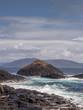 Basalt rock at the isle of Staffa, Inner hebrides, Scotland, UK