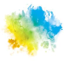 Tache Encre Couleur Multi-colore
