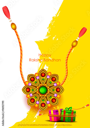 Fotografering  Raksha bandhan background for Indian festival celebration