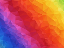 Geometric Spectrum Rainbow Tex...