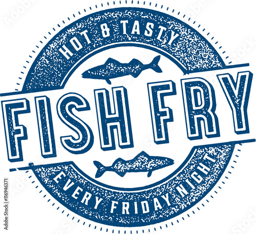 Fotografija Vintage Friday Fish Fry Sign