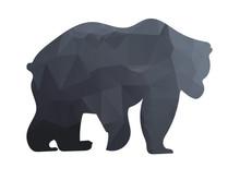 Silhouette A Bear Of Geometric Shapes