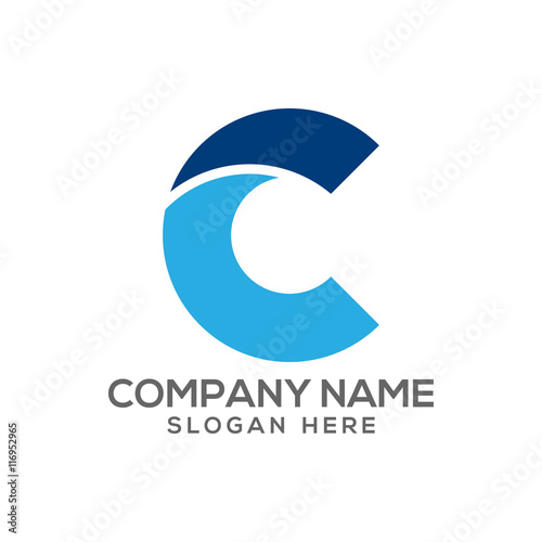 Letter C logo vector - typography