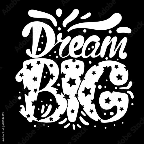 Motivation and Dream Lettering Concept плакат