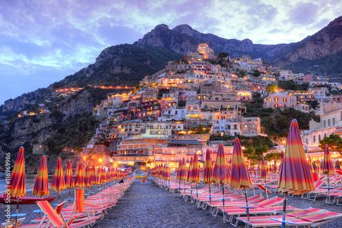 Canvas Print Beautiful Positano, Amalfi coast, Italy
