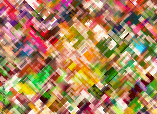 Spoed Fotobehang Psychedelic Multicolored different colors in Chaotic Arrangement