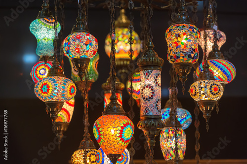 Papiers peints Maroc Colorful Moroccan style lanterns
