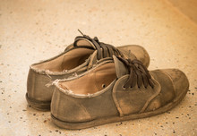 Old Thai Student Shoes, Poor S...