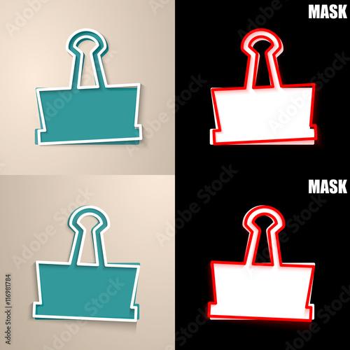 Fotografie, Obraz  papierowa ikona z cieniem