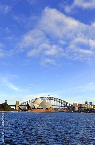 City skyline in Sydney Australia Poster