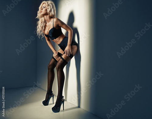 25e29910ade Beautiful woman wearing sexy lingerie - Buy this stock photo and ...