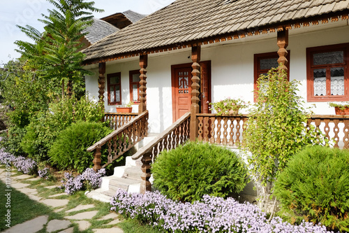 Photo  Traditional peasant house in the Republic of Moldova