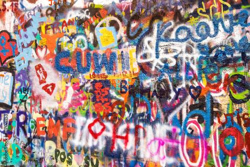 Foto op Aluminium Graffiti Graffiti an der Wand