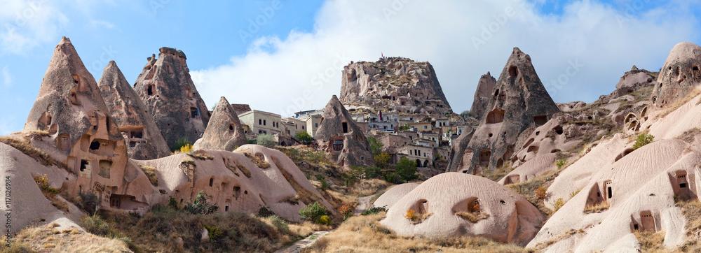 Fototapety, obrazy: panorama of Uchisar castle in Cappadocia, Turkey