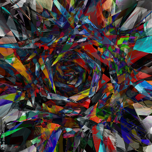 Deurstickers Paradijsvogel Abstract colored background of geometric patterns picture