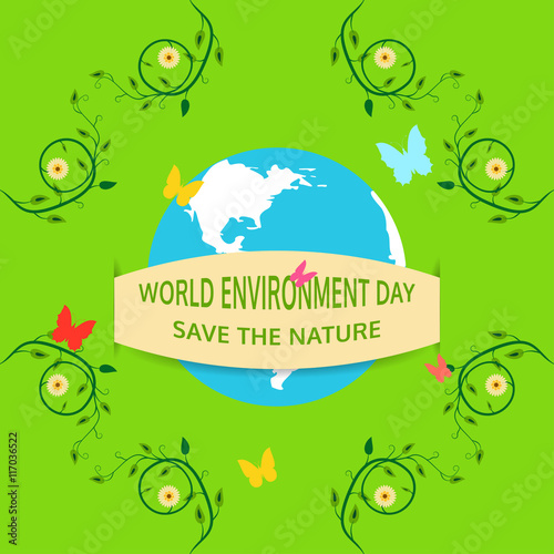 Seamless Pattern Of Of World Environment Day On The Green Background