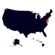 Maryland State in the United States map